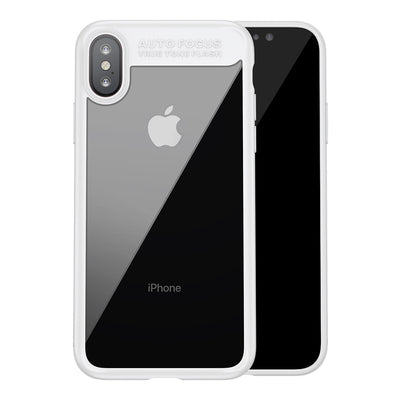 Baseus for iPhone X Ultra-thin PC + TPU Protective Back Cover Hard Case(White) - Beewik-Shop.com