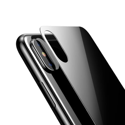 Baseus for iPhone X 9H Hardness 3D Silk-screen Anti-scratch Tempered Glass Back Screen Film(Black) - Beewik-Shop.com