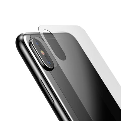Baseus for iPhone X 9H Hardness 3D Silk-screen Anti-scratch Tempered Glass Back Screen Film(Transparent) - Beewik-Shop.com