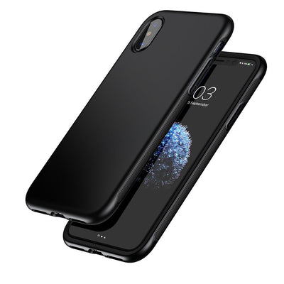 Baseus for iPhone X Full Protection TPU + TPE Dropproof Shell Case Cover(Black) - Beewik-Shop.com