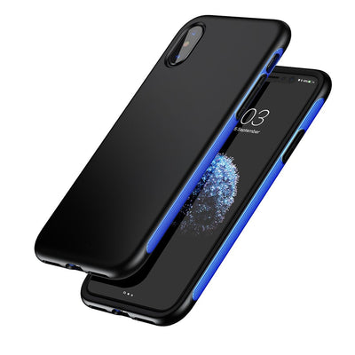 Baseus for iPhone X Full Protection TPU + TPE Dropproof Shell Case Cover(Blue) - Beewik-Shop.com