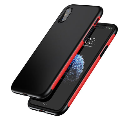 Baseus for iPhone X Full Protection TPU + TPE Dropproof Shell Case Cover(Red) - Beewik-Shop.com