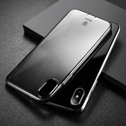 Baseus Simple Series for iPhone X Dustproof Protective TPU Back Case Cover(Black White) - Beewik-Shop.com