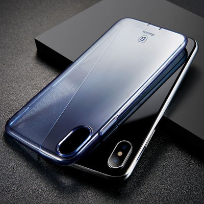 Baseus Simple Series for iPhone X Dustproof Protective TPU Back Case Cover(Blue) - Beewik-Shop.com
