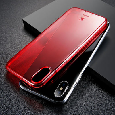 Baseus Simple Series for iPhone X Dustproof Protective TPU Back Case Cover(Red) - Beewik-Shop.com