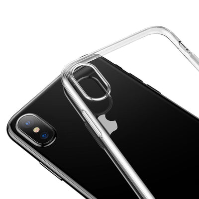 Baseus Simple Series for iPhone X Soft Transparent TPU Protective Back Cover Case(Transparent) - Beewik-Shop.com