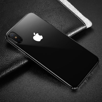 Baseus for iPhone X Dropproof Soft TPU Protective Back Cover Case (Black White) - Beewik-Shop.com