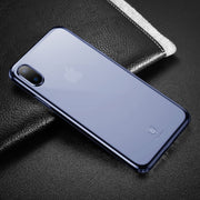 Baseus for iPhone X Dropproof Soft TPU Protective Back Cover Case (Blue) - Beewik-Shop.com
