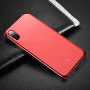 Baseus for iPhone X Dropproof Soft TPU Protective Back Cover Case (Red) - Beewik-Shop.com