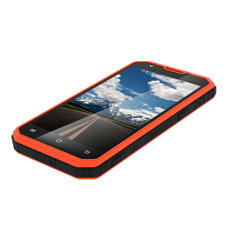 NO.1 M3 Rugged Smartphone - Android OS, IP68, 5 Inch Display, 4G, Dual-IMEI, Quad-Core CPU, 2GB RAM, 13MP Camera (Orange) - Beewik-Shop.com