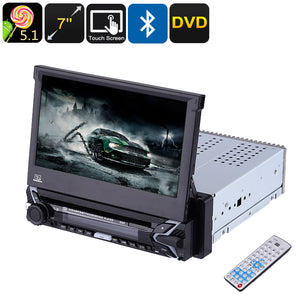One DIN Universal Car DVD Player - 7 Inch Touch Screen, Detachable Display, GPS, Bluetooth, DVD, Android OS, Quad-Core CPU, WiFi - Beewik-Shop.com