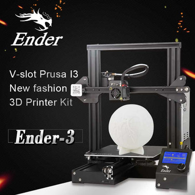 Creality 3D CR-Ender3  3D Printer - DIY Design,  0.1mm Accurate, LCD Display,  220x220x250mm Printing Volume, G-Code - Beewik-Shop.com