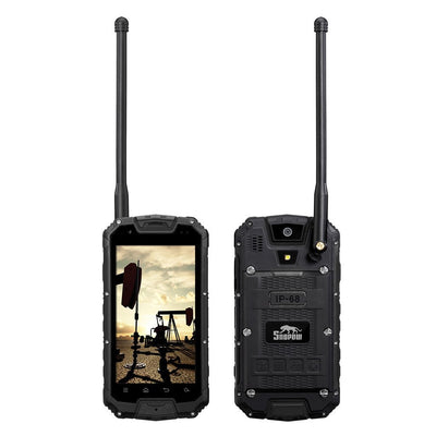 Snopow M5P Rugged Phone - Dual SIM 4G, IP68, Walkie-Talkie, 4700mAh Battery, Android OS (Black)
