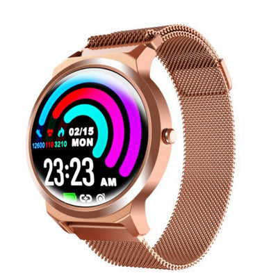 LEMFO ELF1 Connected Watch Voll-Touchscreen-Herzfrequenzmesser Blutdruck Smartwatch Gold - Beewik-Shop.com