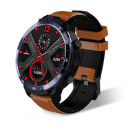LEMFO LEM12 Face ID 1.6 Inch Dual Camera LTE 4G Smart Watch Android 7.1 3GB 32GB 1800mah Battery Men Smartwatch brown - Beewik-Shop.com