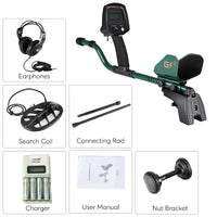 Professional Metal Detector ''Gold Finder 2 '' - 3.8 Inch LCD Screen, Sensitivity Adjustment, 40h  Battery Life, Earphone Jack - Beewik-Shop.com