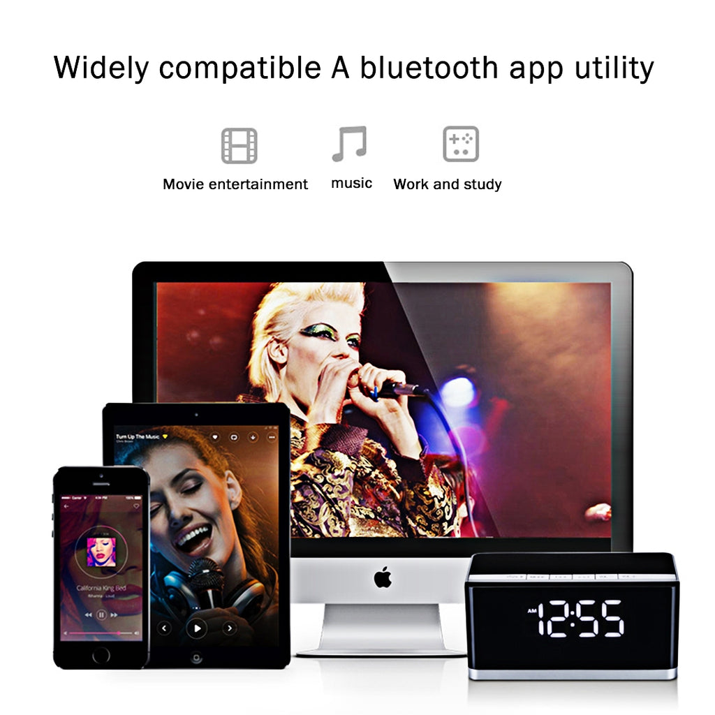 MUSKY DY 27 HiFi Portable Bluetooth Speaker with Mic & Handsfree, Support  Clock Alarm / AUX, For iPhone, iPad, Galaxy, Sony, Lenovo, HTC, Huawei,