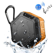 BT508 Portable Life Waterproof Bluetooth Stereo Speaker, with Built-in MIC & Hook, Support Hands-free Calls & TF Card & FM, Bluetooth Distance: 10m(Orange) - Beewik-Shop.com