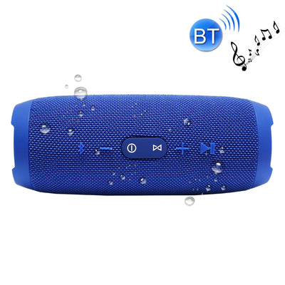 Charge3 Life Waterproof Bluetooth Stereo Speaker, with Built-in MIC, Support Hands-free Calls & TF Card & AUX IN & Power Bank, Bluetooth Distance: 10m(Blue) - Beewik-Shop.com