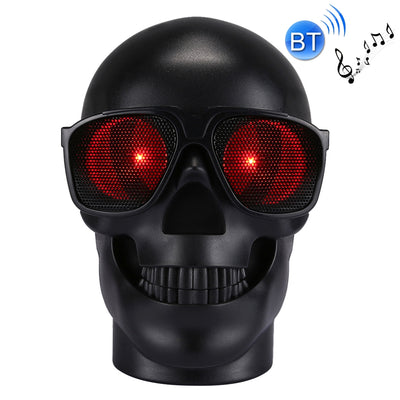 CH-M29 Multifunctional Skull Music Playback Bluetooth Speaker , with LED Light, Support TF Card & U-disk Music Play & FM Function(Black) - Beewik-Shop.com