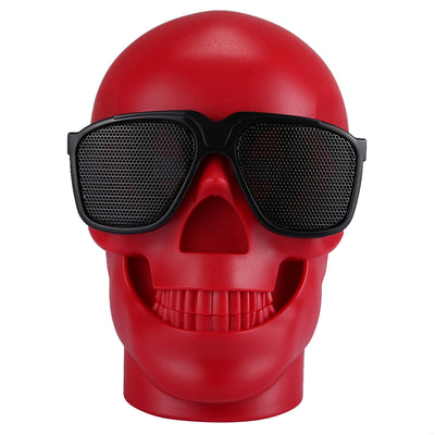 CH-M29 Multifunctional Skull Music Playback Bluetooth Speaker , with LED Light, Support TF Card & U-disk Music Play & FM Function(Red) - Beewik-Shop.com