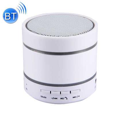 YX-S09U Multifunctional Mini Card Music Playback Bluetooth Speaker , with Color Light, Support Handfree Call & TF Card & U-disk & AUX Audio & FM Function & Earphone Out(White) - Beewik-Shop.com