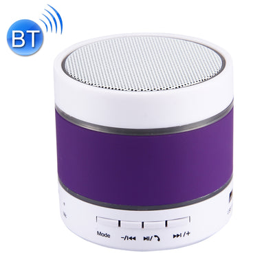 YX-S09U Multifunctional Mini Card Music Playback Bluetooth Speaker , with Color Light, Support Handfree Call & TF Card & U-disk & AUX Audio & FM Function & Earphone Out(Purple) - Beewik-Shop.com