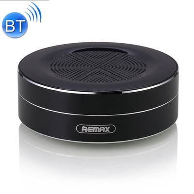 REMAX Portable Music Playback Metal Bluetooth Speaker, Built-in HD MIC, Support Hands-free Calls & TF Card & AUX IN, Bluetooth Distance: 10m(Black) - Beewik-Shop.com