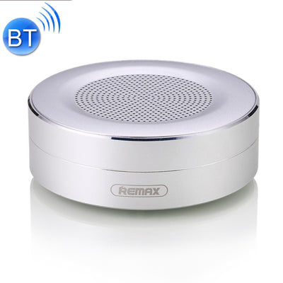 REMAX Portable Music Playback Metal Bluetooth Speaker, Built-in HD MIC, Support Hands-free Calls & TF Card & AUX IN, Bluetooth Distance: 10m(Silver) - Beewik-Shop.com