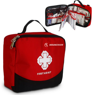 Kit d'urgence de poche multifonctionnel léger et portable Mounchain First Aid (8 articles, 148 PCS) - Beewik-Shop.com