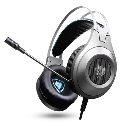 N2D PS4 Headset Casque de basse, Casque de jeu, Casque avec micro pour PC Gamer/Nintendo Switch/New Xbox one/Phone Silver - Beewik-Shop.com