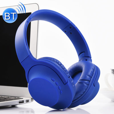 MDR100 Headband Folding Stereo Wireless Bluetooth Headphone Headset, Support 3.5mm Audio Input & Hands-free Call, For iPhone, iPad, iPod, Samsung, HTC, Xiaomi and other Audio Devices(Blue) - Beewik-Shop.com