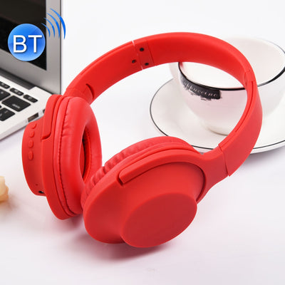 MDR100 Headband Folding Stereo Wireless Bluetooth Headphone Headset, Support 3.5mm Audio Input & Hands-free Call, For iPhone, iPad, iPod, Samsung, HTC, Xiaomi and other Audio Devices(Red) - Beewik-Shop.com