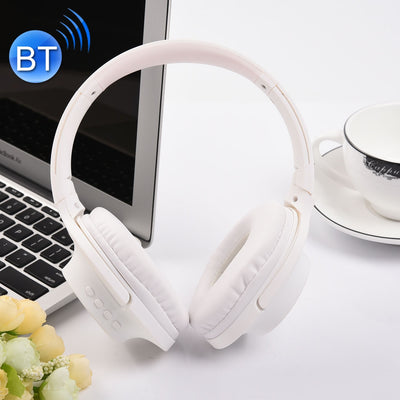 MDR100 Headband Folding Stereo Wireless Bluetooth Headphone Headset, Support 3.5mm Audio Input & Hands-free Call, For iPhone, iPad, iPod, Samsung, HTC, Xiaomi and other Audio Devices(White) - Beewik-Shop.com