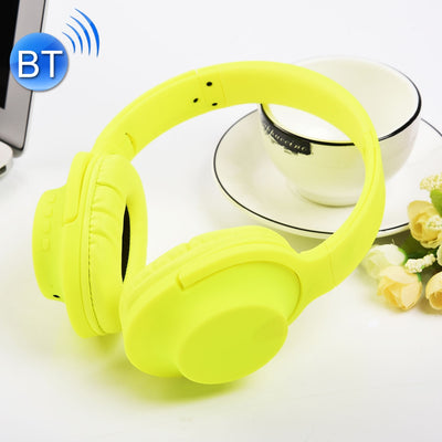 MDR100 Headband Folding Stereo Wireless Bluetooth Headphone Headset, Support 3.5mm Audio Input & Hands-free Call, For iPhone, iPad, iPod, Samsung, HTC, Xiaomi and other Audio Devices(Yellow) - Beewik-Shop.com