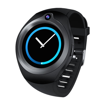 Android Smart Watch Phone- 5M Camera, Quad Core, GPS, Bluetooth, WiFi, 3G, 1.3 Inch Screen (Black) - Beewik-Shop.com