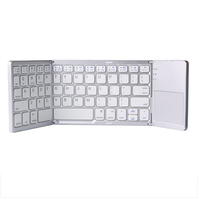 Mini-clavier Bluetooth portable et pliable à trois touches, Clavier sans fil pliable pour IOS/Android/windows de couleur blanc - Beewik-Shop.com