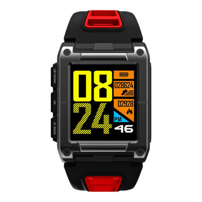 Red Professional Swimming Sport Smart Watch IP68 Waterproof Fitness Activity Tracker Monitor Heart Rate Monitor Wristwatch - Beewik-Shop.com