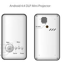 Mini projecteur DLP Android 4.4 - 100 lumens, 2000:1 contraste, CPU Quad Core - Beewik-Shop.com