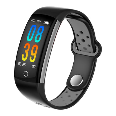 Q6 Bluetooth Fitness Tracker - Heartrate Monitor,Pedometer, Calorie Counter, Notificaions, Calls,, 0.96 Inch Display Ip68 - Beewik-Shop.com