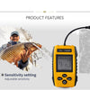 Portable Fish Finder - Sonar Technology, 100m Depth Range, Fish Alarm, Adjustable Sensitivity, Depth Scale, Fish Size Detection - Beewik-Shop.com