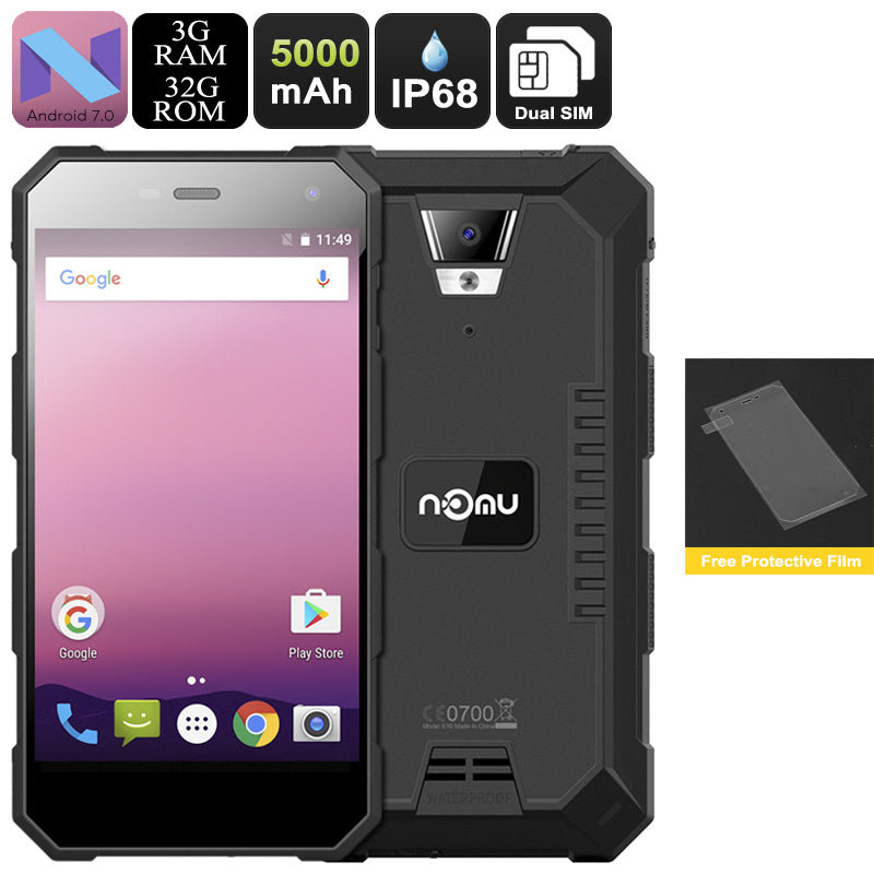 NOMU S10 Pro Android Phone (Black) - Beewik-Shop.com