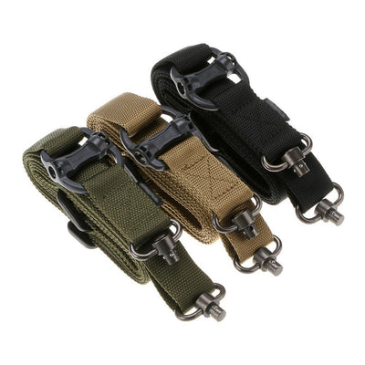 Cordes tactiques multi-fonctions, Retro Cordes de sécurité 2 points Élingue de fusil Bande de nylon ArmyGreen - Beewik-Shop.com