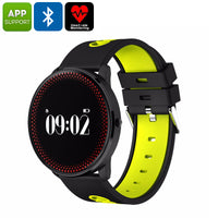ORDRO CF007 Bluetooth Watch - Blood Pressure, Heart Rate, Pedometer, Calories Burned, App Support, Bluetooth (Yellow) - Beewik-Shop.com