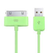 1m 30 Pin Data Sync Cable, For iPhone 4 & 4S, iPhone 3GS / 3G, iPad 3 / iPad 2 / iPad(Green) - Beewik-Shop.com