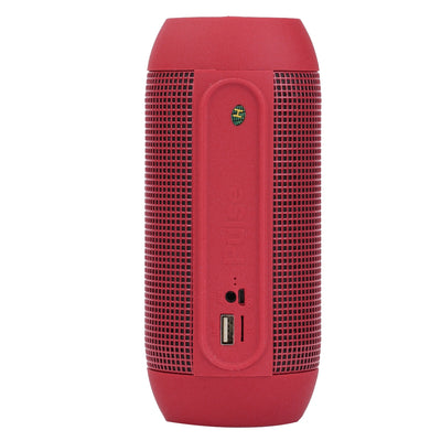 Pulse Portable Bluetooth Streaming Mini Speaker with Built-in LED Light Show & Mic, For iPhone, Galaxy, Sony, Lenovo, HTC, Huawei, Google, LG, Xiaomi, other Smartphones(Red)