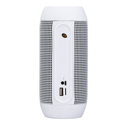 Pulse Portable Bluetooth Streaming Mini Speaker with Built-in LED Light Show & Mic, For iPhone, Galaxy, Sony, Lenovo, HTC, Huawei, Google, LG, Xiaomi, other Smartphones(White)