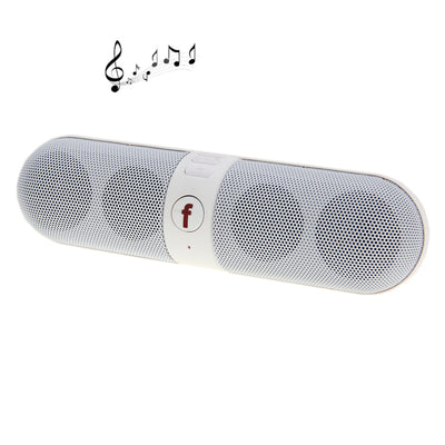 B6 Pill Portable Multi-function Bluetooth Speaker, 2 x Speaker Unit, Support TF Card / Handsfree, For iPhone, Galaxy, Sony, Lenovo, HTC, Huawei, Google, LG, Xiaomi, other Smartphones and all Bluetooth Devices(White) - Beewik-Shop.com