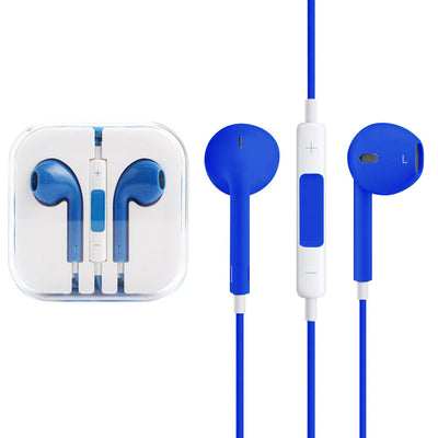 High Quality EarPods with Remote and Mic for iPhone 6 & 6 Plus, iPhone 5 & 5S & 5C, iPhone 4 & 4S, iPad / iPod touch, iPod Nano / Classic(Blue) - Beewik-Shop.com