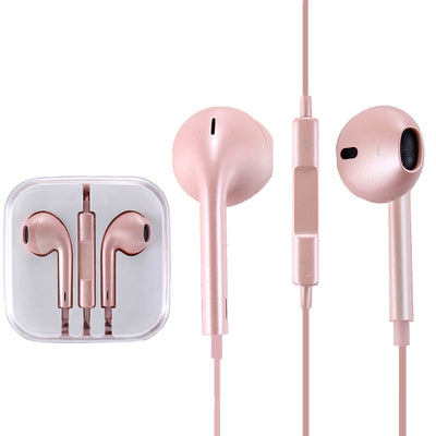 High Quality EarPods with Remote and Mic for iPhone 6 & 6 Plus, iPhone 5 & 5S & 5C, iPhone 4 & 4S, iPad / iPod touch, iPod Nano / Classic(Rose Gold) - Beewik-Shop.com